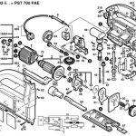 Vue éclatée de la Bosch PST 700